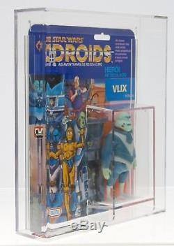 Star Wars Vintage Glasslite Droids Vlix AFA 50 (80/50/85) MOC