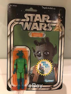 Star Wars Vintage Greedo 20 Back Boba Offer 1978 MOC Not Recard