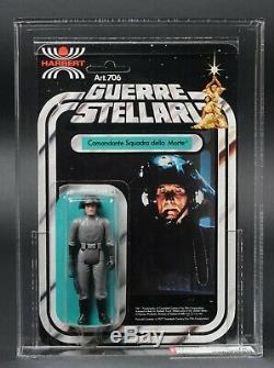 Star Wars Vintage Harbert Death Squad Commander 12 Back AFA 75 (80/75/85) UP MOC