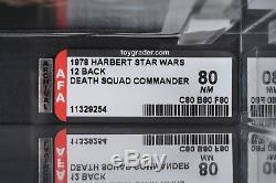 Star Wars Vintage Harbert Death Squad Commander 12 Back AFA 80 (80/80/80) MOC