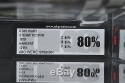Star Wars Vintage Harbert Stormtrooper 12 Back UKG 80 (80/85/80) Unpunched MOC