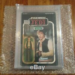 Star Wars Vintage Kenner 1983 Han Solo ROTJ-77A MOC AFA 85 85/85/85 1983 77 A