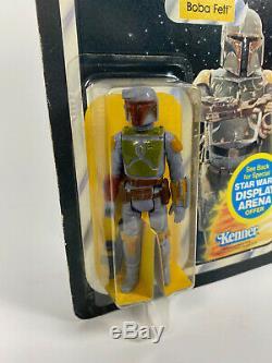 Star Wars Vintage Kenner Boba Fett Action Figure ESB 45 Back Carded MOC