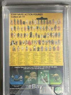 Star Wars Vintage Leia Poncho Afa 75 Kenner 77 Back Rotj Card 1983 C70 B85 F85
