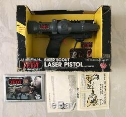 Star Wars Vintage Lili Ledy Bker Scout Pistol Laser MIB Grail Rare México
