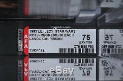 Star Wars Vintage Lili Ledy Lando Calrissian ROTJ 50 Back AFA 75 (75/85/80) MOC