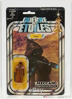 Star Wars Vintage Meccano 12 Back Vinyl Cape Jawa AFA 75 (80/85/70) MOC