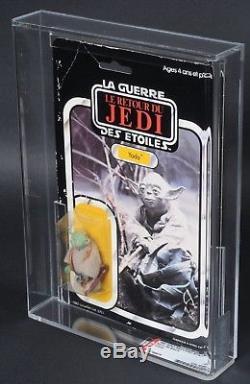 Star Wars Vintage Miro-Meccano Yoda ROTJ 65 Back AFA 70 (60/85/85) MOC