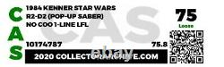 Star Wars Vintage Original AFA 1985 R2-D2 Pop-Up Saber CAS 75 Last 17 POTF