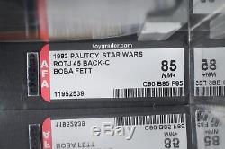 Star Wars Vintage Palitoy Boba Fett ROTJ 45 Back-C AFA 85 (90/85/85) MOC