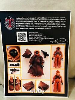 Star Wars Vintage RARE LILI LEDY Removable Hood Jawa UKG 85 Graded Certificate