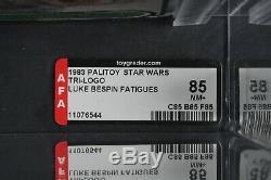 Star Wars Vintage Tri-Logo Luke Bespin AFA 85 (85/85/85) Unpunched MOC