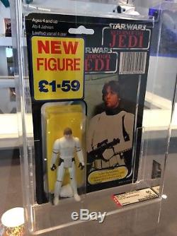 Star Wars Vintage Tri Logo Palitoy Luke In Stormtrooper 70 Back Afa 80