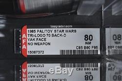 Star Wars Vintage Yak Face Tri-Logo 70 Back-D AFA 80 (85/8/85) Unpunched MOC