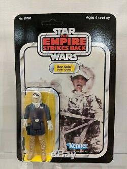 Star wars Han solo Hoth Vintage 32 back-A moc Kenner unpunched beauty