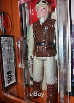 UKG 85/80 PBP Dark Brown Rebel Soldier Tri Logo cardback Star Wars Vintage AfA