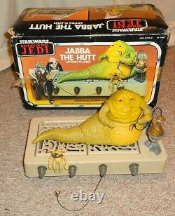 VINTAGE KENNER STAR WARS 1983 JABBA THE HUTT ACTION PLAYSET 100% In BOX LOOK