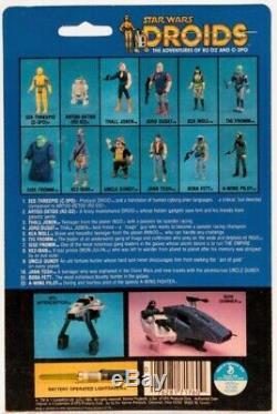 VINTAGE STAR WARS DROIDS Series MOC BOBA FETT 1985 Rare C-8 Bounty Hunter