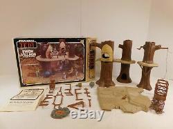 VINTAGE STAR WARS EWOK VILLAGE With BOX 1983 COMPLETE CLEAN UNBROKEN