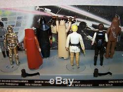 VINTAGE STAR WARS KENNER 1977 VINTAGE MAIL-AWAY DISPLAY STAND & 1st 12 FIGURES