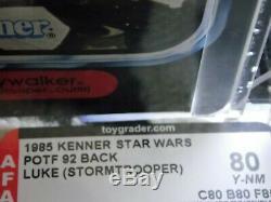 VTG197719841985StarWarsPOTFLast17LukeSkywalkerStormtrooper AFA GRADED