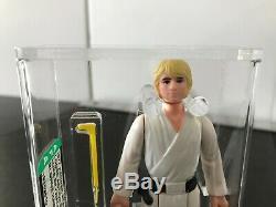 Vintage 1977 Kenner Star Wars Luke Skywalker Farmboy AFA 80+ HK Blonde/Dark Pant
