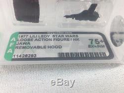 Vintage 1977 Star Wars Lili Ledy Jawa with Removable Hood AFA 75+ EX+ NM