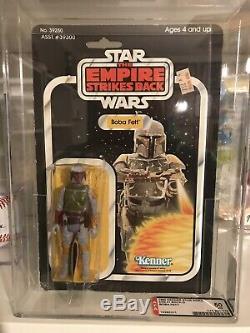 Vintage 1980 Kenner Star Wars Boba Fett 41 Back-B AFA 50 (70,40,70) MOC NICE