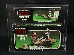 Vintage 1983 Kenner Star Wars Return of Jedi RotJ Speeder Bike Vehicle AFA 80 NM