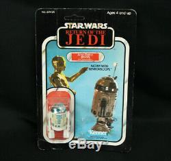 Vintage 1983 Kenner Star Wars RotJ Artoo-Detoo R2-D2 MOC withSensorscope 77-Back