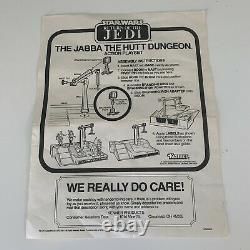 Vintage 1983 Star Wars Jabba The Hutt Dungeon Action Playset With Box Instructions