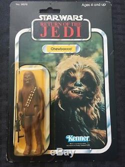 Vintage 1983 Star Wars Return of Jedi ROTJ Chewbacca Figure Carded MOC 77 Back