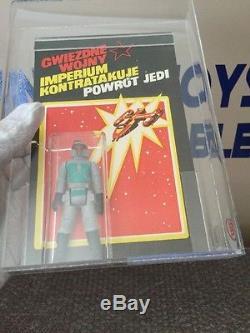 Vintage 1985 Polish Bootleg Star Wars Boba Fett UKG 80 Proof Card Unused Backer