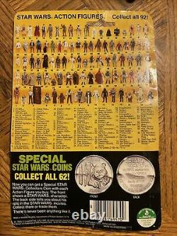 Vintage 1985 Star Wars POTF Imperial Gunner Last 17 With Card Bubble & Coin