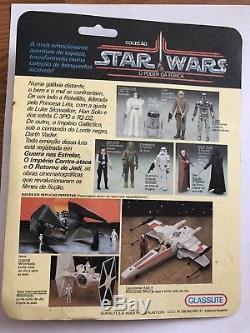 Vintage 1988 Star Wars GLASSLITE Brazil Luke Skywalker Carded Ultra Rare! Read