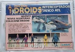 Vintage 1988 Star Wars Glasslite Atl Interceptor Afa 80 Nm! Super Rare Misb