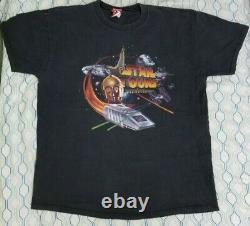 Vintage 90s Disney Disneyland Star Tours T Shirt Star Wars C3PO Ride Movie XL