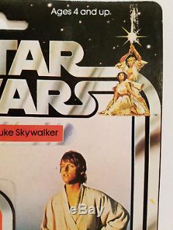 Vintage Kenner 1977 Star Wars Luke Skywalker 12 Back NIB Unopened