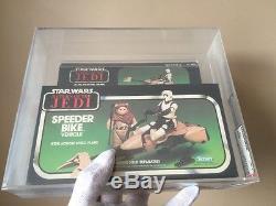Vintage Kenner 1983 Star Wars ROTJ Boxed Speeder Bike AFA 80+ NM