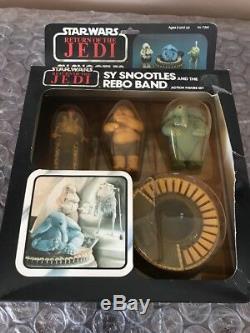Vintage Kenner 1983 Star Wars Return of the Jedi sy snootles rebo band ROTJ MIB