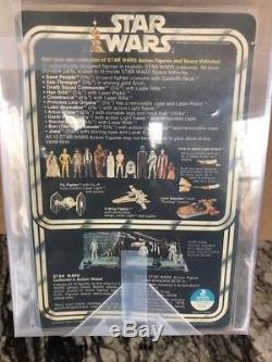 Vintage Kenner Star Wars 12 Back-A Unpunched AFA 80 Luke Skywalker