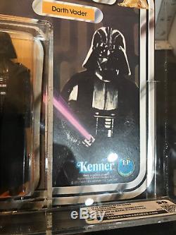 Vintage Kenner Star Wars 1977 Darth Vader CAS 90 (Figure) 12 Back A Card UPunchd