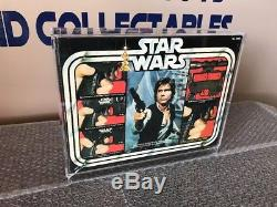 Vintage Kenner Star Wars 1978 Laser Pistol Han Solo's Blaster-MIB Acrylic Case
