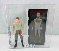 Vintage Kenner Star Wars 1984 POTF Han Solo in Carbonite AFA 80