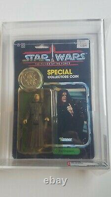 Vintage Kenner Star Wars 1985 92-Back POTF Emperor MOC AFA 80