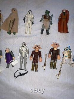 Vintage Kenner Star Wars 90 figures lot weapons accessories 77-85 Vader/Luke