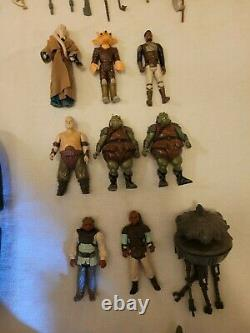 Vintage Kenner Star Wars Action Figure, Weapons & Accessories Lot withVader Case
