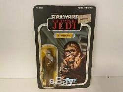 Vintage Kenner Star Wars Chewbacca MOC Carded Figure 65 Back ROTJ