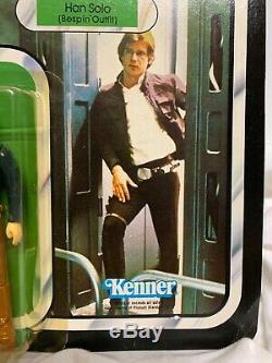 Vintage Kenner Star Wars ESB Han Solo Bespin Outfit MOC 41back