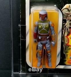 Vintage Kenner Star Wars Empire Strikes Back Boba Fett 21 Back Moc Afa 80 Scarce